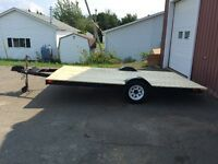12 x 8  flat bed trailler
