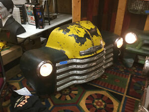 50s rat rod wall art Chevy pick up front end
