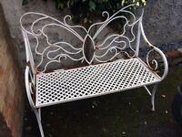 Vintage French Style Wrought Iron Garden Bench - £55 ONO