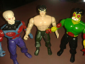 "3 vintage 7"" action figures 1960s Made in Korea"