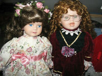 Box of New Collectable Porcelain  Dolls For Sale