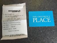 Children's place gift card