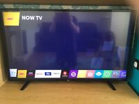 """LG 49uf640v 49"""" 4K ultra HD TV with free view and web OS"""