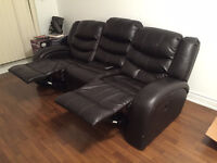 Leather Reclining Sofa *PICKUP ONLY*