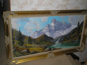 FIRST $250.00 TAKES IT ~ Mountain Oil Painting by Josef Lehner ~