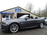 2008 57 BMW 3 SERIES 2.0 320I M SPORT CONVERTIBLE FULL LEATHER JUST 21000 MILES