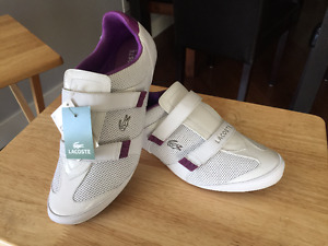 Lacoste woman's sport shoes size 10 Brand new in box with tags.