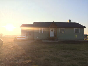 Ranch Style Home on Residential Acreage for Sale Stirling AB