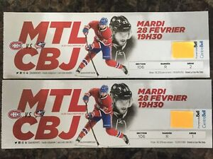 Red Tickets Montreal Canadiens vs Columbus Billet Rouge