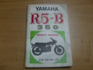 YAMAHA R5 OWNERS MANUAL Cambridge Kitchener Area image 1