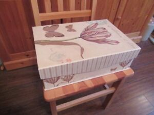 STORAGE BOXES - DECORATIVE (2) - REDUCED!!!!
