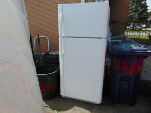 one refrigerator plugged in out side working for you to see sell