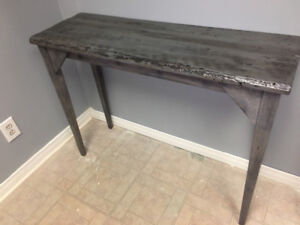 Rustic Mirror  and Console Table, and custom furniture.