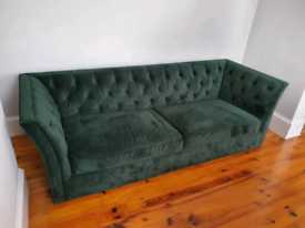 Vintage Green couch good condition from a non smoking environment