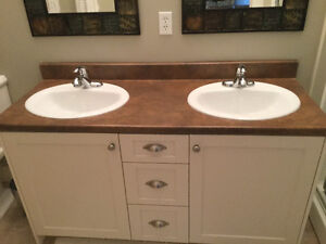 Double Sink Countertop with taps (Vanity not included)