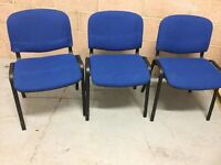 Blue Fabric Chairs Office