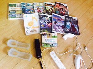 Console wii, manettes et 10 jeux