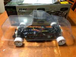 Tamiya TT02T RC Chassis - Clear Shell and All Stock Parts