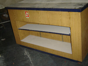 $150 · Used wood counter for the store with some shelves Regina Regina Area image 1