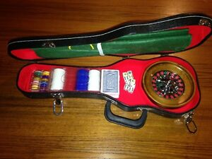 Mini Casino in a guitar case - Roulette/Poker London Ontario image 1