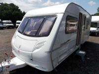 ACE Jubilee Statesman 2005 4 Berth Fixed Bed Lightweight Touring Caravan