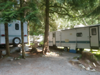 Squamish Pad spots with hook ups for Trailers/RV/Campervans