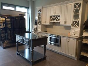 Brand new Custom Cabinets with movable Island