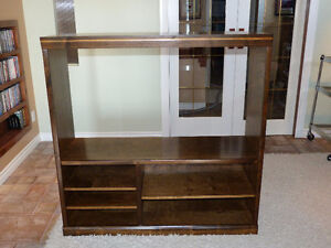 Beautiful Refinished Wide Screen Entertainment Unit