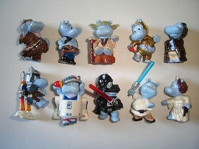 STAR WARS HAPPY HIPPOS 2002 KINDER SURPRISE FIGURES SET FIGURINES COLLECTIBLES