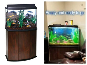 THE AQUEON 36 GALLON BOW FRONT LED FISH TANK