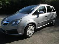 07/56 VAUXHALL ZAFIRA 1.6 LIFE IN MET SILVER WITH 75,000 MILES