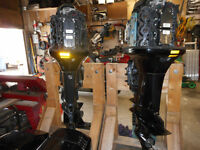 pair of 225 merc outboards
