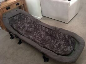 Nash indulgence 6 leg bedchair removable mattress not wide boy for carp fishing