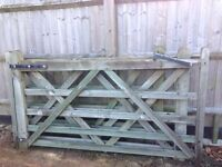 Matching wooden gates and fence - all solid wood