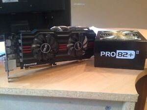 Graphics Card + Power supply combo