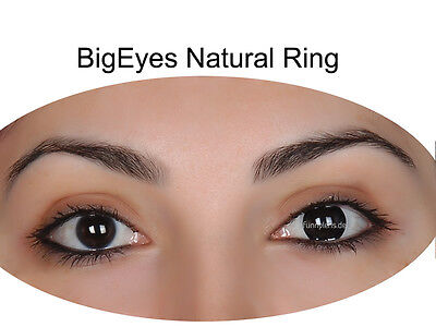 Farbige schwarze Kontaktlinsen Big Eyes Natural Ring Circle Lens FunnyLens