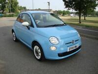 Fiat 500 1.2 ( 69bhp ) COLOUR THERAPY, 2014, 23k FFSH, One Owner, Blue,