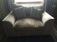 SCS three seater sofa and two seater snuggle sofa