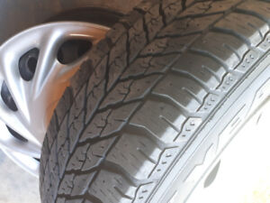 "4 17"" Rims and 2 Winter tires off a Mazda CX-5"