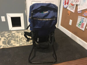 MEC baby carrier for hiking