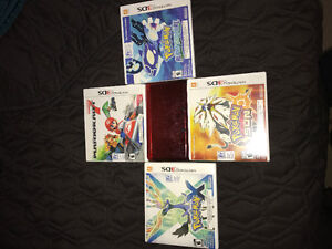 Red Nintendo 3DS that comes with games and dgsrgec