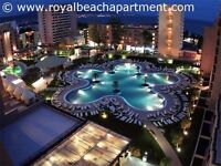 Barcelo Royal Beach apartment rental on a 5-star complex in Sunny Beach Bulgaria, sleeps 4