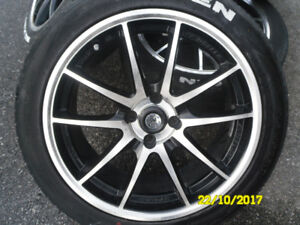 DAI mags wheels 4X100 with 215/45r17