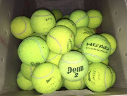 Approx 115 Used Tennis Balls Top Brands