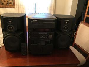 Sony 60 CD Dual Cassette Deck Stereo
