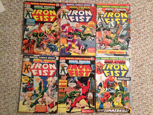 Iron Fist Marvel Premiere Lot #17-24 1st Misty Knight
