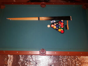 84 x 47 Pool Table for sale. Comes with all you need.