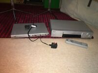 One sony vhs & Philips DVD player