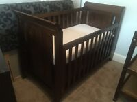Boori / King Parrot nursery cot bed, drawers and changing station