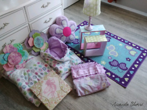 Girls bedroom decor and bedding